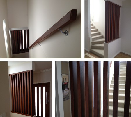 Custom hand rail for stairs